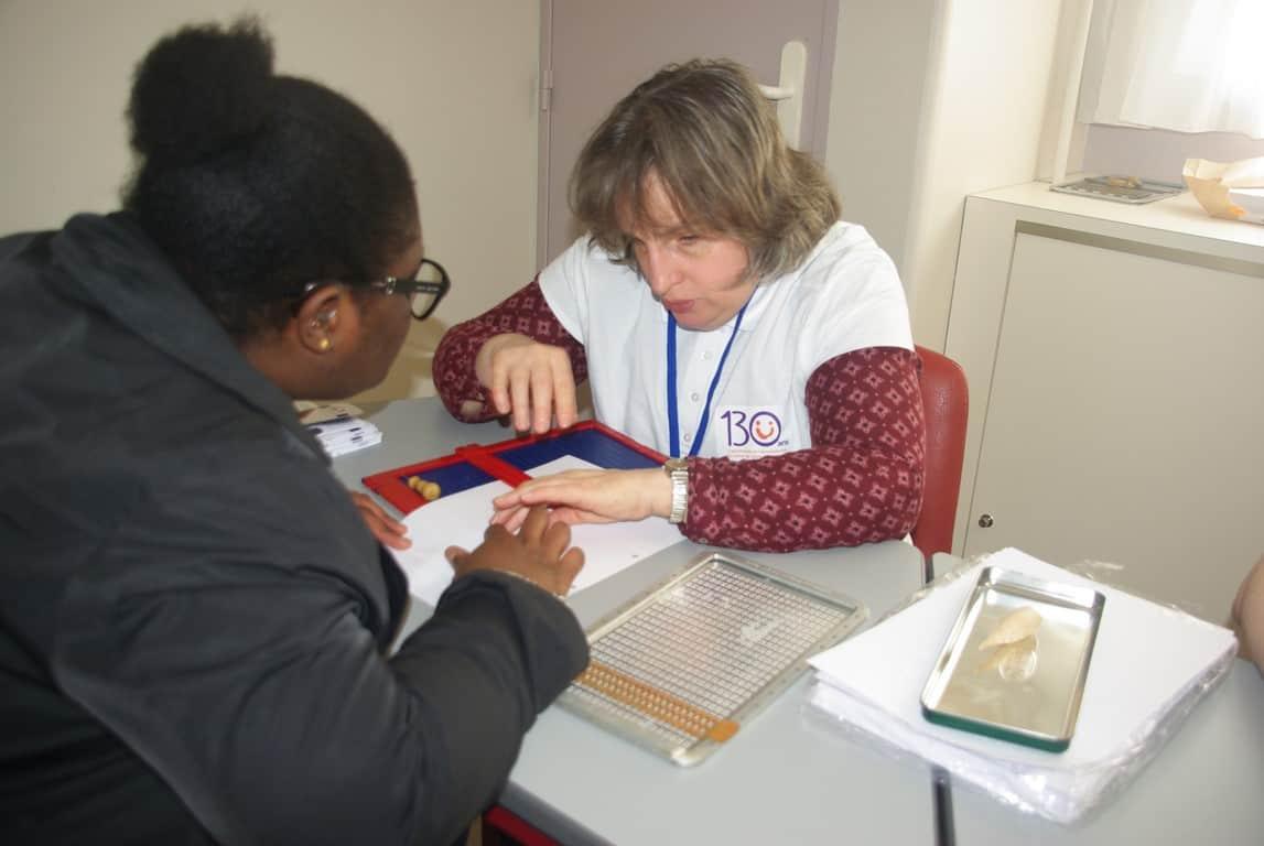 Photo JPO 130 ans - Initiation au braille