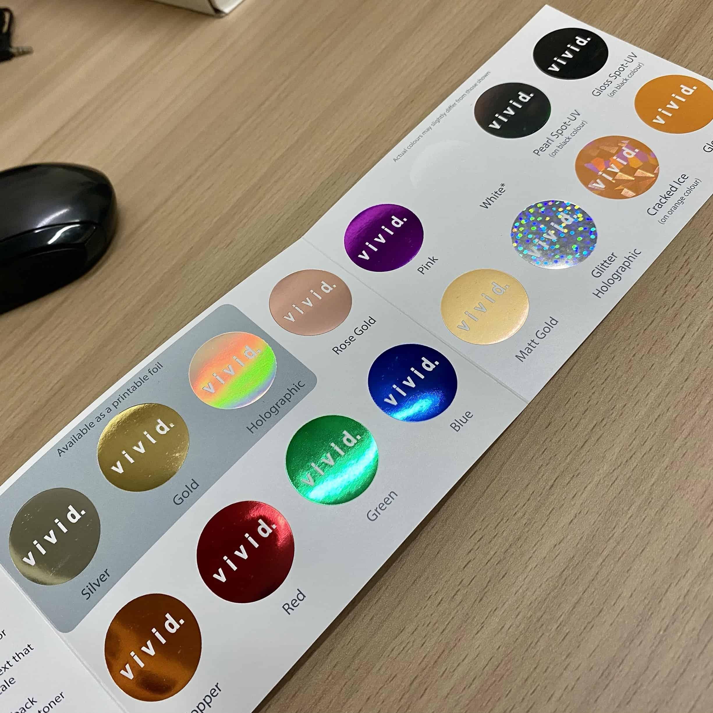 Gamme de couleurs de pelliculage sélectifs